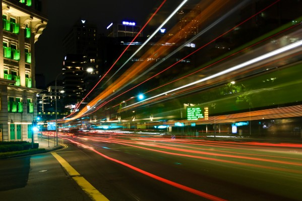 Night City Traffic by Edwin De Smet