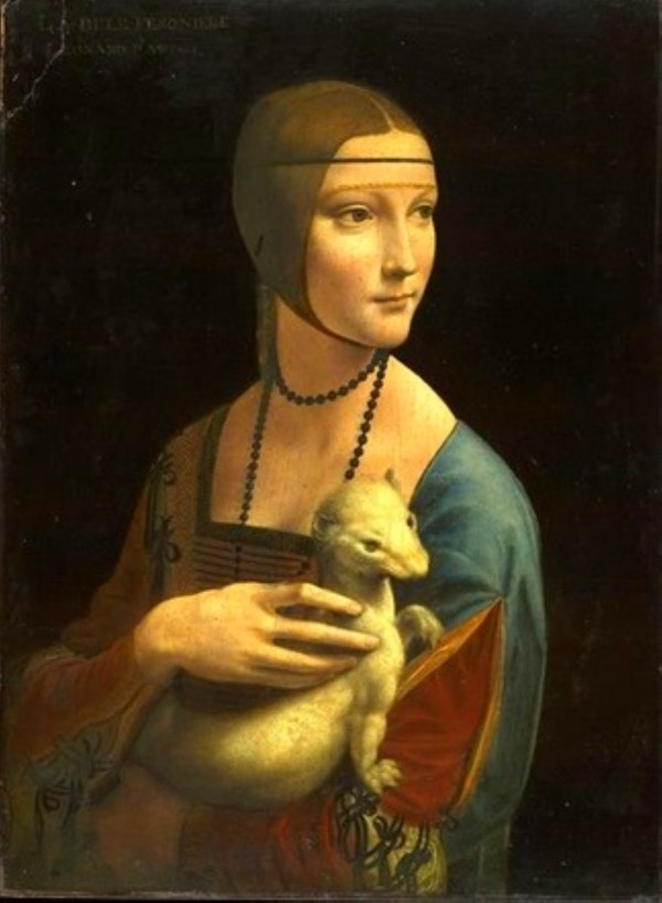 Leonardo da Vinci. The Lady with an Ermine Cecilia Gallerani HD 300ppi by Famous Paintings