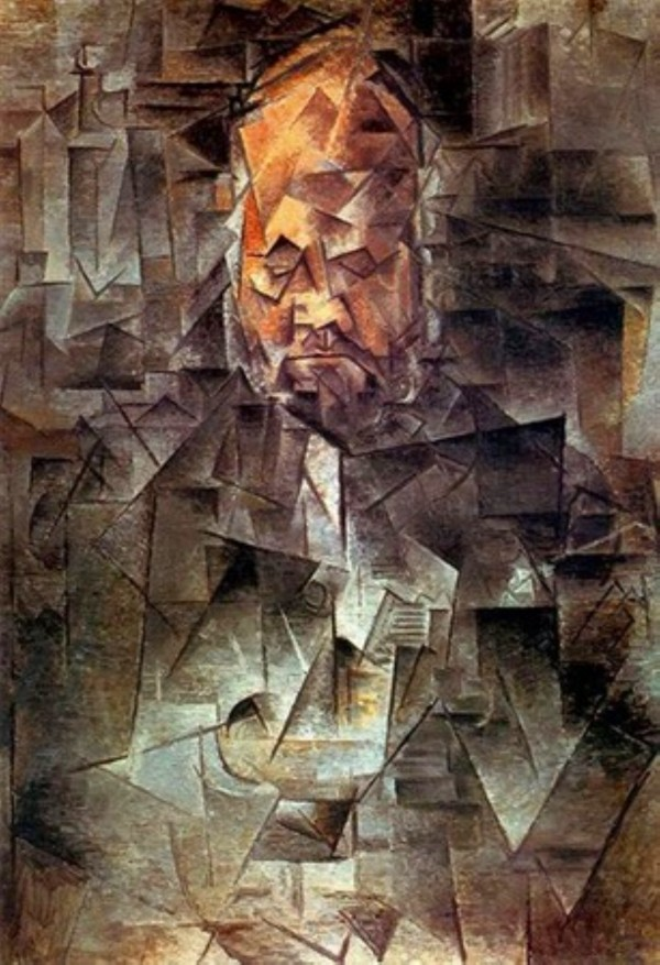 Pablo Picasso. Portrait of Ambroise Vollard HD 300ppi by Famous Paintings