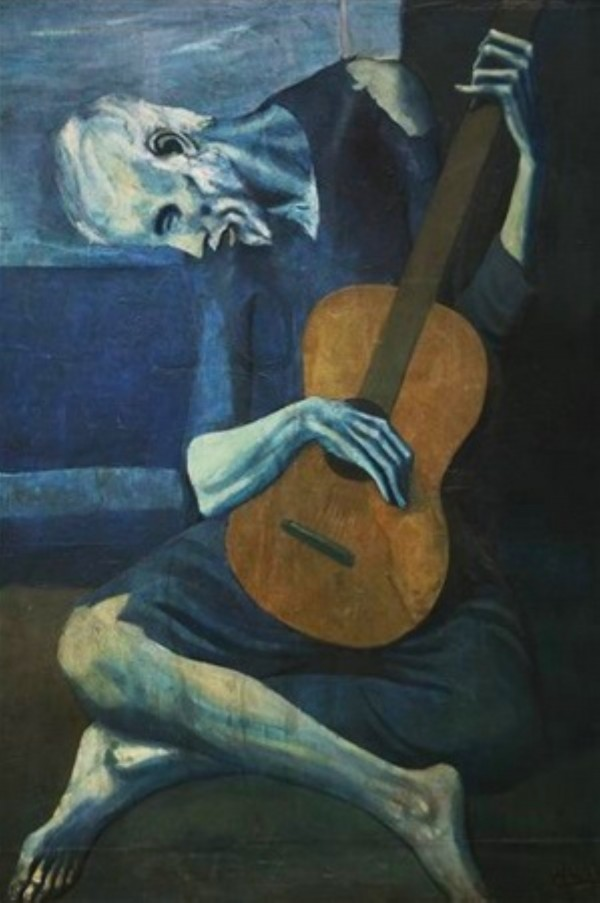 Pablo Picasso. The Old Blind Guitarist HD 30ppi by Famous Paintings