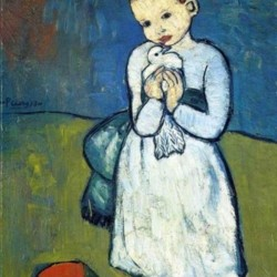 Pablo Piccaso. Child with Dove HD 300ppi by Famous Paintings
