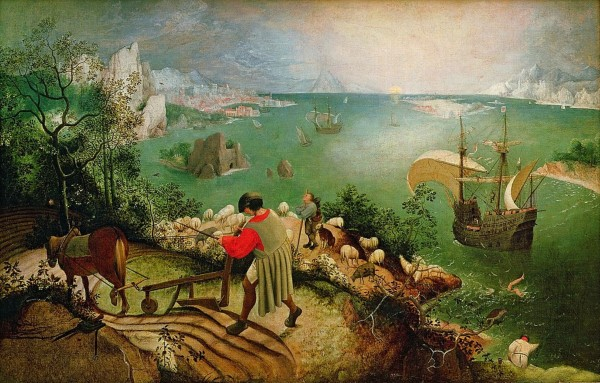 Pieter Bruegel: Landscape with the Fall of Icarus HD-300ppi by Famous Paintings