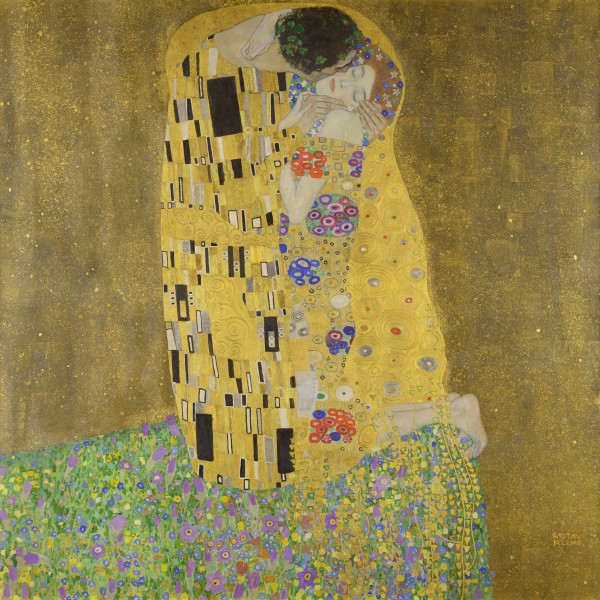 Gustav Klimt: The Kiss  HD-300ppi by Famous Paintings