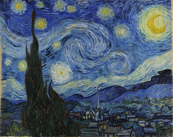 Vincent Van Gogh: The Starry Night HD-300ppi by Famous Paintings