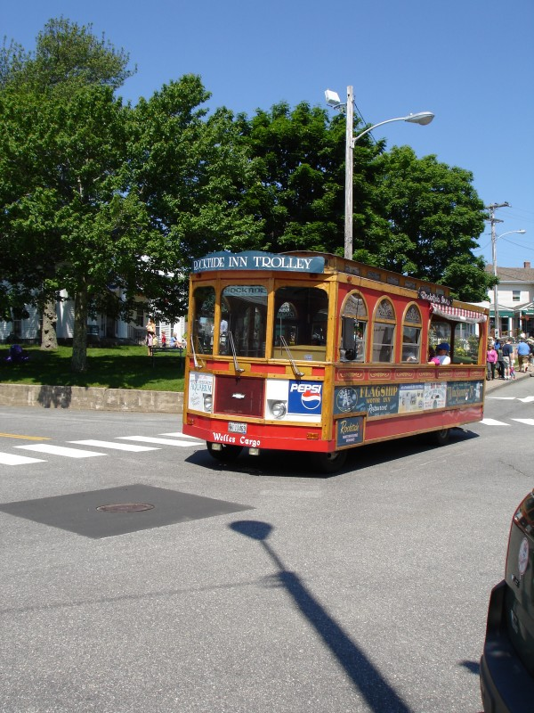 Boothbay Harbor - Maine - Trolley  by FoxHollowArt