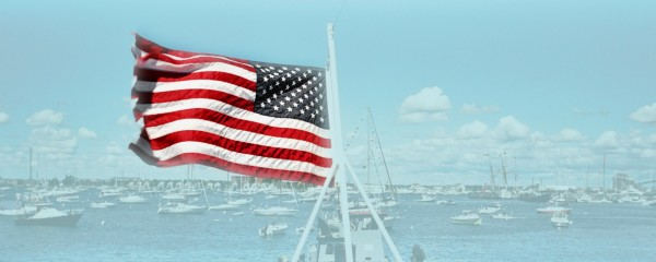 Old Glory Newport Harbor Rhode Island by FoxHollowArt