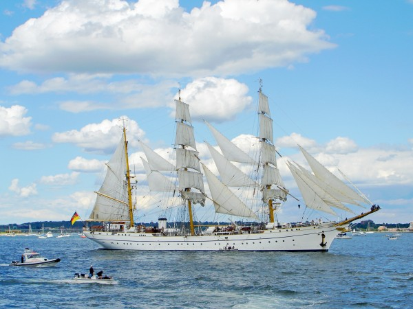 Tall Ships  Newport  Rhode Island by FoxHollowArt