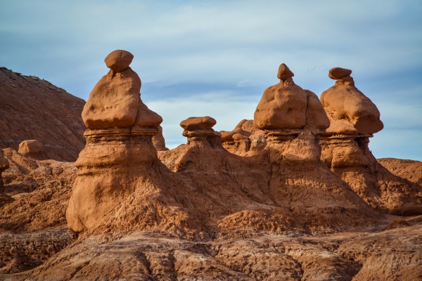 rock formation in the shape of fairy chimneys at Goblin valley Utah USA by Francois Lariviere