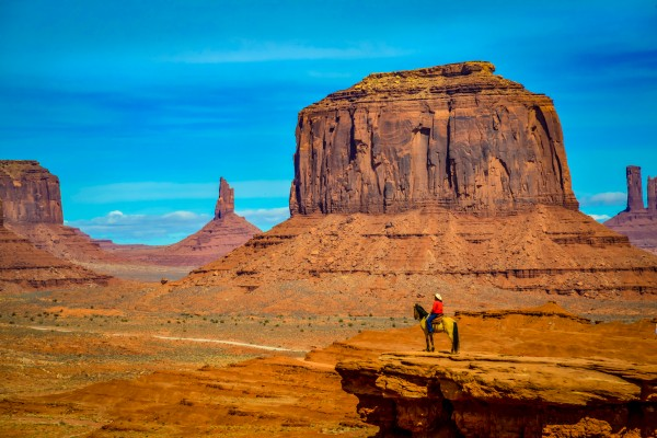 Horse in Monument Valley USA by Francois Lariviere
