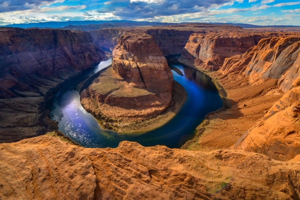 View of the Horseshoe Bend and Colorado river in Arizona USA by Francois Lariviere