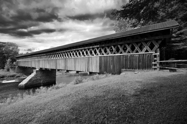 McVetty-McKenzie covered bridge made of wood and dating from 1893 is located in Gould Lingwick Estrie Quebec Canada by Francois Lariviere
