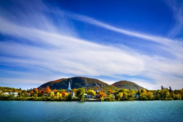 Mont-Saint-Hilaire Quebec mountain in autumn by Francois Lariviere