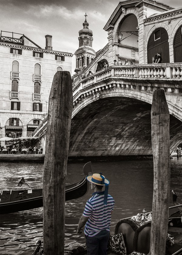 Grand Canal of Venice in black and white by Francois Lariviere