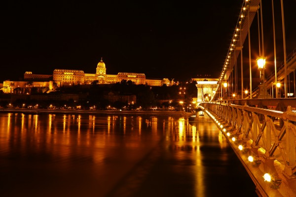 Buda Castle and Chain Bridge 45 by Guy Lichter