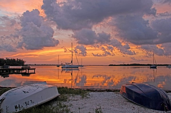 Sunrise A Moody Morning  by HH Photography of Florida