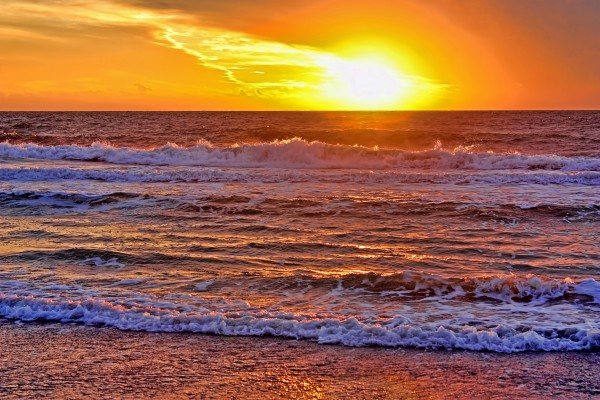 The Gulf At Sunset by HH Photography of Florida