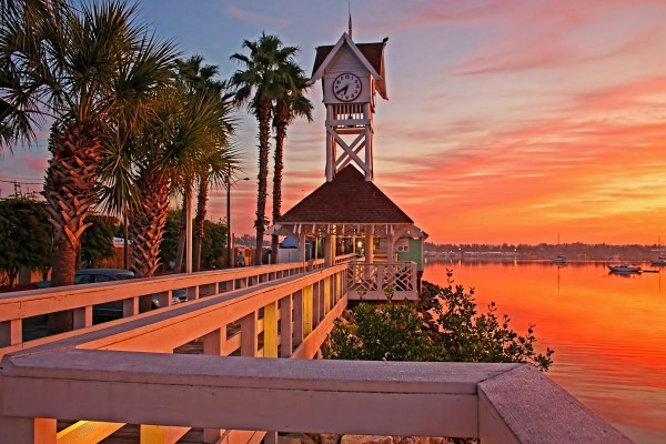 Historic Bridge Street Pier Sunrise by HH Photography of Florida
