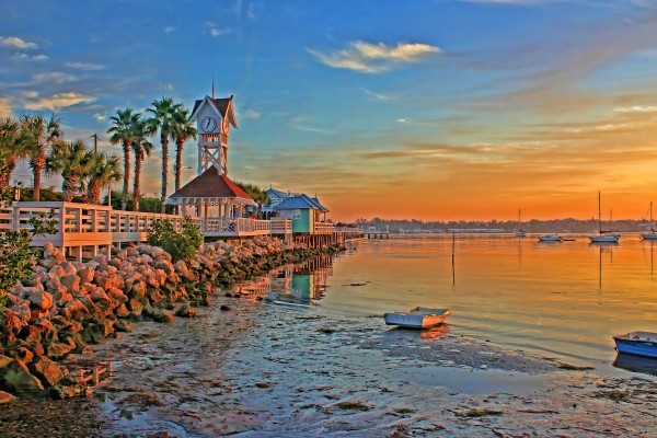 Sunrise At The Pier  by HH Photography of Florida