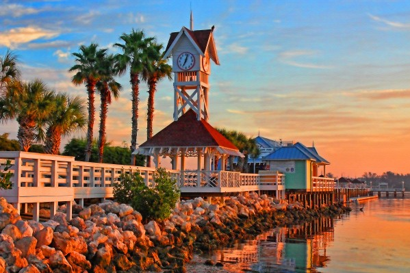 Morning At The Bridge Street Pier by HH Photography of Florida