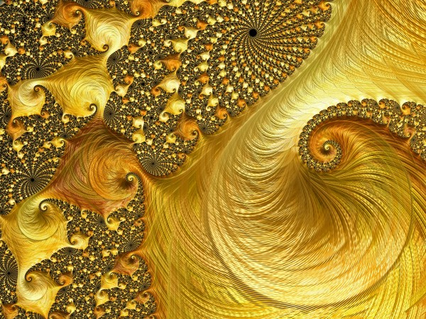 Gold Strike-Fractal Art by HH Photography of Florida