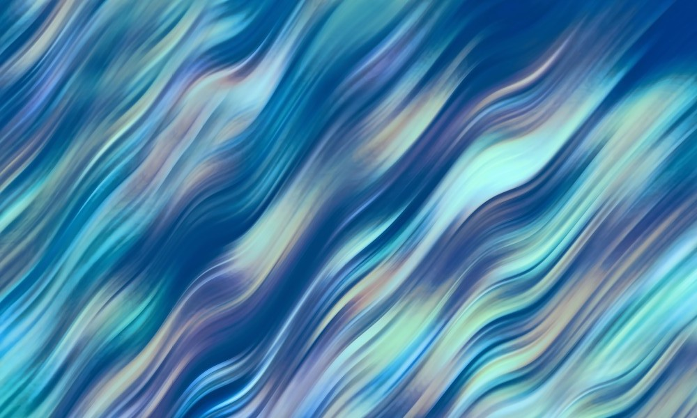 Big Blue Wave Abstract  by HH Photography of Florida