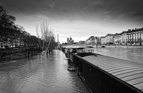 Flood in Paris by Hassan Bensliman