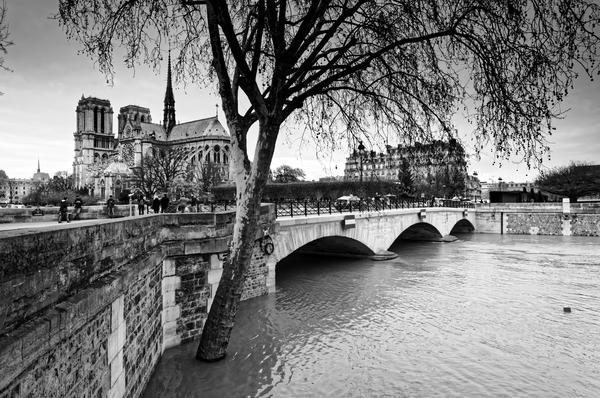 Seine river flood by Hassan Bensliman