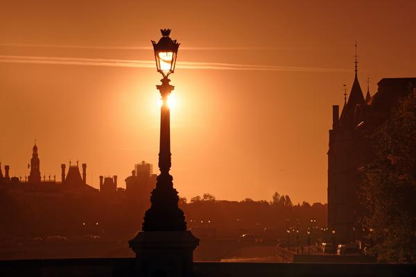Parisian sunrise by Hassan Bensliman