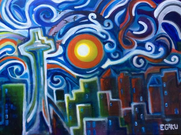 SOMBER NIGHTS IN SEATTLE by JAMES EGAKU