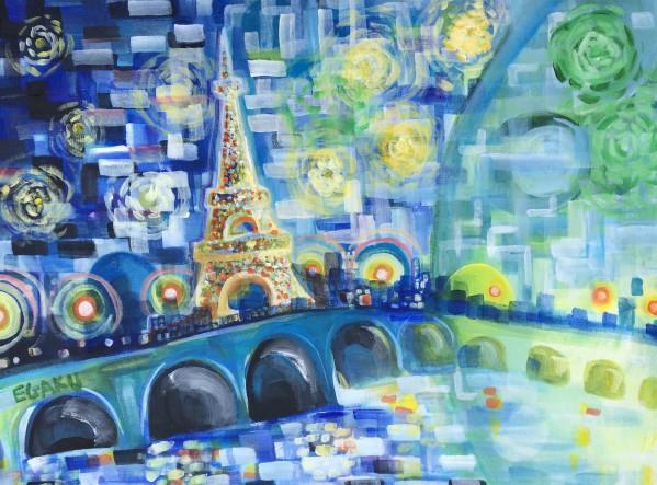 PARIS COLORS OF LOVE by JAMES EGAKU