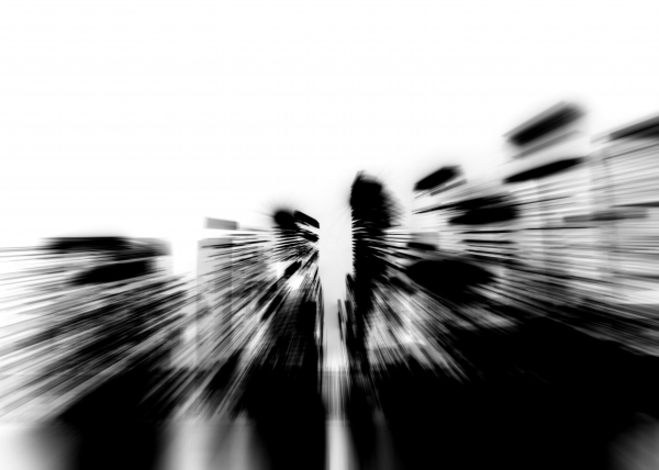 City radials in blackwhite by JP ODonnell