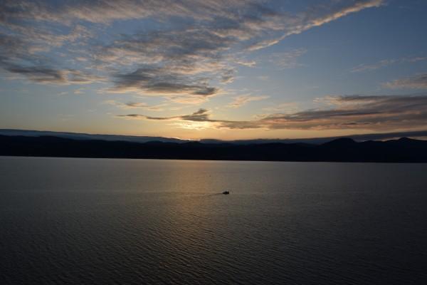 Sunset Boating on Champlain II by Jarrod Sammis