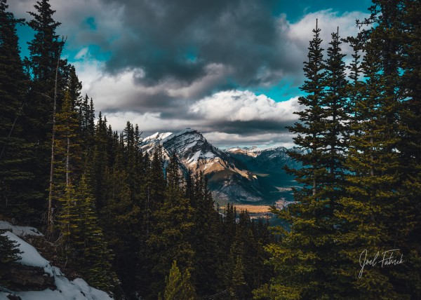 Cascade Mountain Through The Trees by Joel Fabrick