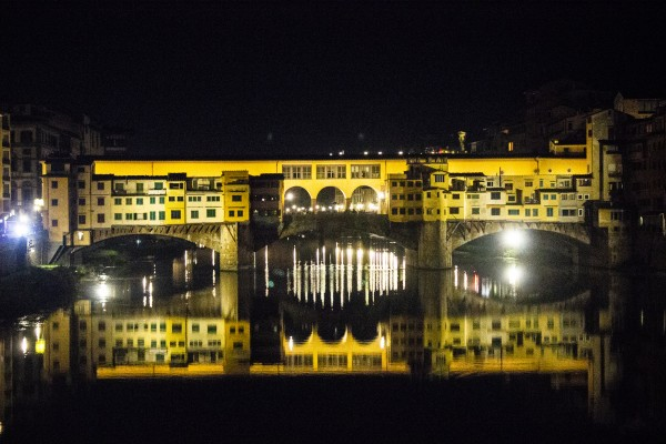 Reflection of Ponte Vecchio in November  by John Anderson