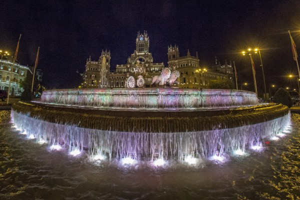 Plaza de Cibeles in Madrid Spain by John Anderson