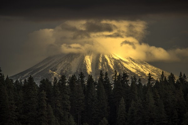 Mt McLoughlin Under a Shroud  by John Anderson