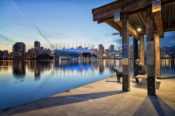 Waiting for Water Taxi by Amazing Vancouver & Beautiful British Columbia by Jorge Ligason