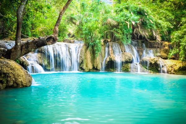 Luang Prabang waterfalls  Print