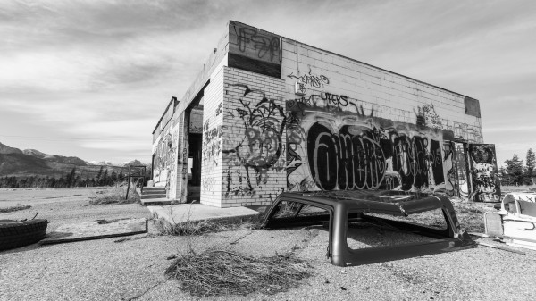 1584 - Abandoned Gas Station  Morley Alberta.  Canada by Ken Anderson Photography