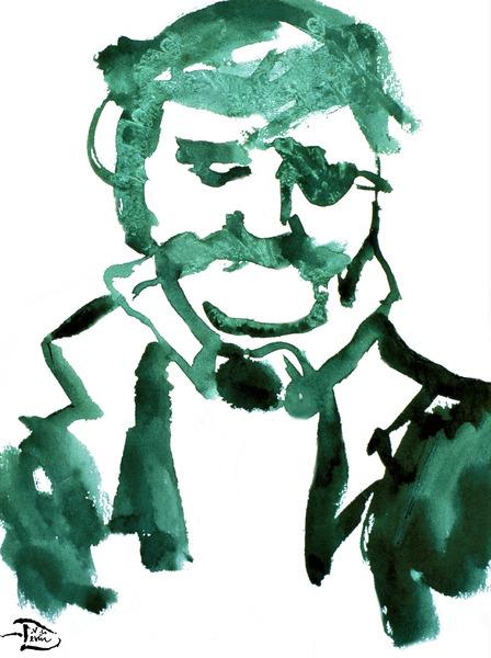 Watercolor Man by Lowell Phoenix Devin