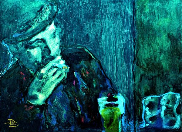 Lone Drinker by Lowell Phoenix Devin
