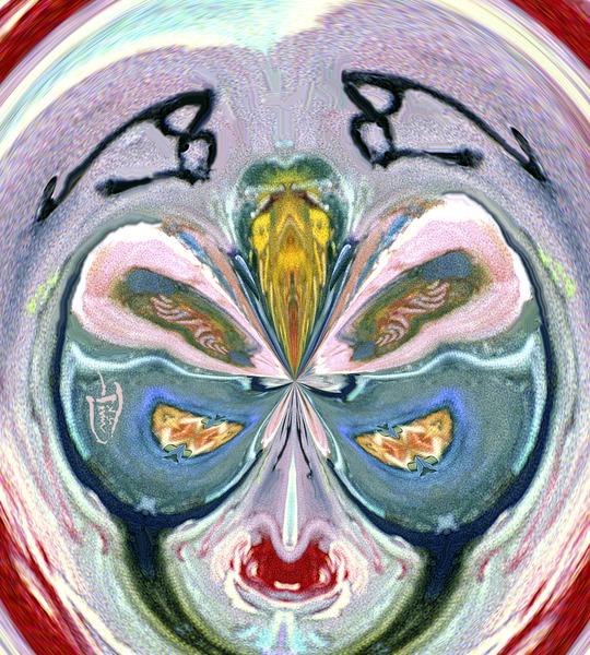 Kibuki Hat Face by Lowell Phoenix Devin