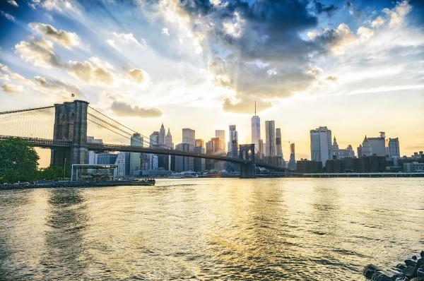 New York City Sunset from Dumbo by Luis Bonetti