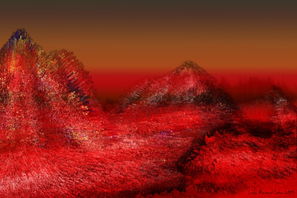 Red Landscape abstract by Lutz Roland Lehn