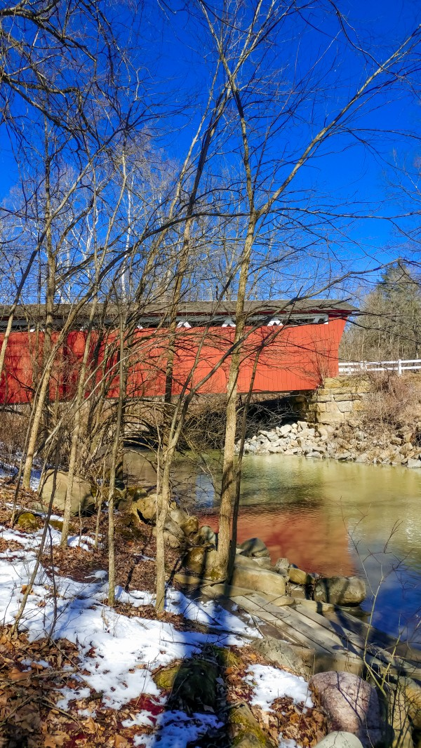 Everett Road Covered Bridge by DeweyHill Photography
