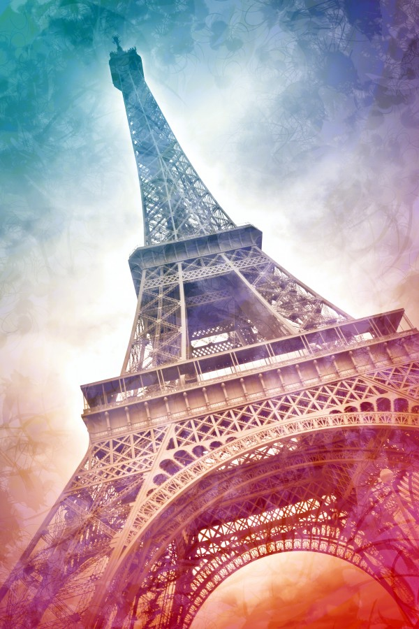 Modern-Art EIFFEL TOWER Canvas Print