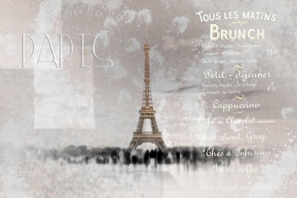 Digital-Art Eiffel Tower II Canvas Print