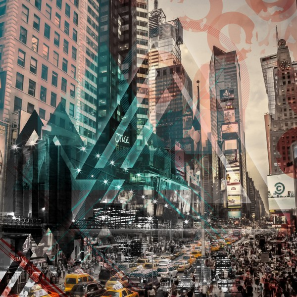 New York City Geometric Mix No. 4 Canvas Print