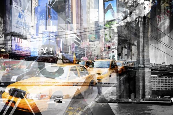 New York City Geometric Mix No. 9 Canvas Print