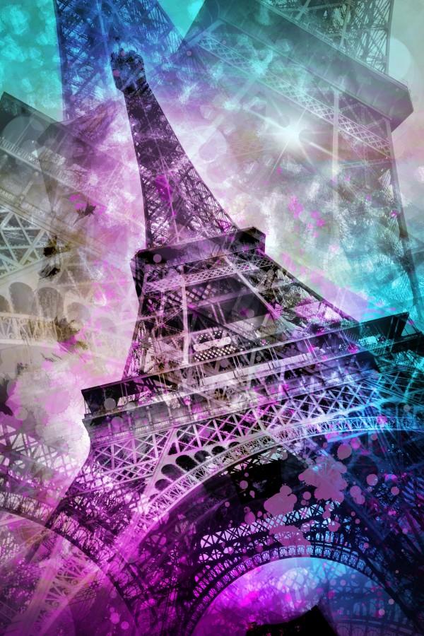 Pop Art Eiffel Tower Canvas Print